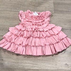 Lemon Loves Lime baby girl pink ruffle dress 0-3 M